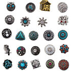 1pc 18-20mm  A variety of  style metal  rhinestone snaps buttons charms jewelry