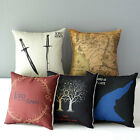 "17"" Lord of the Rings Home Sofa Couch Decor Throw Pillow Case Cushion Cover"