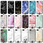 Personalised Marble Phone Case Cover for Apple iPhone Initial Text Name Custom