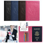 Travel Passport Holder Wallet RFID Blocking Cards Case Cover USA National Emblem