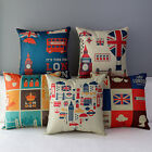 "17"" British London GB Style Home Sofa Car Art Throw Pillow Case Cushion Cover"