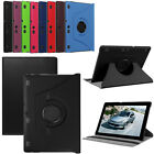 "Leather 360°Rotating Stand Smart Folio Case Cover For 10.1"" Lenovo Tab 2A10-70F"