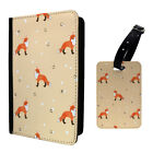 Foxes Snow Dog Pattern Luggage Tag & Passport Holder - S972