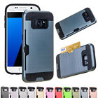 Card Pocket Shockproof Hybrid Armor Hard Case Cover For Samsung Galaxy J3 Emerge