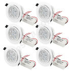 Pack of 6x LED Downlight Recessed 7W Ceiling Light Lamp Bulb Cabinet + Driver