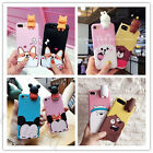 3D Girl's Cute Cartoon Animals Soft Silicone Case Cover for iPhone 6/6S/7 Plus