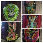 Fairy Fairies Wall Tapestry Hanging Flag Assorted Hand Batik Painted Goblin