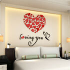 DIY Love Heart Removable Vinyl Decal Art Mural Wall Stickers Home Room Decor