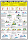 Stretching Exercise Posters Warm Up Chart