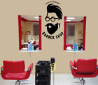 Barrier Vinyl Decal Barber Shop Haircuts Beards Decor z4739