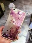 3D Cute Mickey Mouse Bling Liquid Glitter Soft Case Cover for iPhone 6/6S/7 Plus
