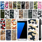 For Samsung Galaxy S7 Edge G935 Camo Design HARD Back Case Phone Cover + Pen
