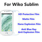 3pcs For Wiko Sublim High Clear/Nano Explosion/Anti Blue Ray Screen Protector