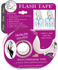 Braza Flash Tape, Double Sided, 20' Waterproof Roll for Clothing, Dressing, Body