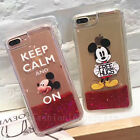 Cute Mickey Mouse Bling Liquid Glitter Soft Case Cover for iPhone 6/6S/7/7 Plus