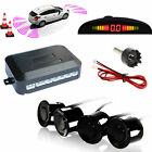 TKOOFN Car Rear Reverse Parking 4 Sensors Reversing Buzzer Alarm Kit LED Display
