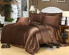 HOTEL COLLECTION 1000TC SATIN SILK BROWN SOLID CHOOSE SIZE & BEDDING SHEET SET