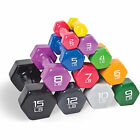 dumbbells 15 lbs - CAP Barbell Dumbbell Hex Hand Weight Fitness Workout Easy Grip 1 - 15 lbs NEW