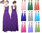 Long Chiffon Lacy Top Formal Evening Party Prom Bridesmaid Dresses