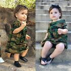 Toddler Baby Girl Summer Dress Camouflage Long T-shirt Tops Dresses Kids Clothes