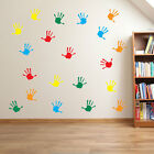 Hand Print Wall Stickers Nursery Playroom Child Kids School Window Colorful A25