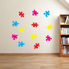 Jigsaw Puzzles Pieces Nursery Playroom Kids Wall Window Colourful Stickers A27