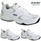 MENS HI TEC ARGON WHITE LACE UP WALKING CASUAL RUNNING GYM SPORTS TRAINERS SHOES