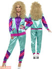 Mens Ladies Shell Suit 80s Fancy Dress Costume Scouser Tracksuit Womens Couples