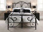 * 5ft King Size Bed Frame - Luxury Metal Bed with Crystal Finials *