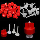 100/200pcs Tile Flat Leveling Tiling System Wall Floor Spacers Strap Caps Tools