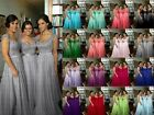 Stock Long Lace Evening Formal Party Ball Gown Prom Bridesmaid Dress Size 6~18