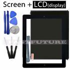 LCD display  Touch Screen Digitizer - Replacement For Apple iPad 4 Black