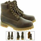Timberland 27097 Af 6 Inch Prem Mens Boots Brown Leather Lace Up Casual