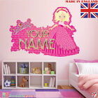 Princess 02 PERSONALISED NAME  Children Room Wall Sticker Decal Fabric  Vinyl UK