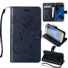 Luxury Strap Leather Folio Wallet Card Case Shockproof For Samsung Galaxy Phones