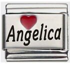 Angelica Laser Name Italian Charm Link image