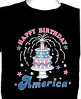 July 4th Shirt, Happy Birthday America, Patriotic Shirt, Birthday Cake, Sm - 5X