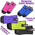 Neoprene Ankle Weights Velcro Black Pink Adjustable Resistant Leg Wrist Strap