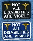 NOT ALL DISABILITIES ARE VISIBLE SERVICE DOG PATCH 2.5X4 Danny & LuAnns Embroide