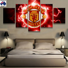 Manchester Unite Football Club Modern Canvas Wall Art Picture Landscape (5piece)