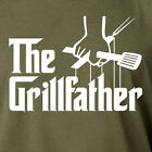 THE GRILLFATHER funny godfather movie grill bbq dad summer father T-Shirt