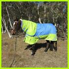 Love My Horse 5'6 - 6'9 1200D Detachable Neck Rug 300g Fill Turnout Lime / Sky