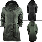 Ladies Brave Soul Jacket Womens Raincoat Fishtail Hoodies Waterproof Parka Plain