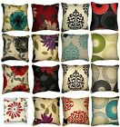 """New Polycotton Printed Half Panama Floral 18""""x18"""" Cushion Covers Rotary Design"""