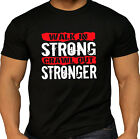 Men's Pro Walk in Strong Workout Kettlebell Weightlifter Gym MMA  Black T Shirt