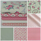 Ivory Parisian floral 5 piece fat quarter bundle & fabrics 100% cotton