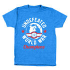 Undefeated World War Champions  Camps Usa Heather Royal Men's Tri-Blend T-Shirt