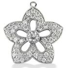 1.50CT Women's Round Cut Diamond Pendant in 14kt White Gold
