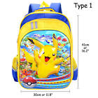 "Pokemon Kids Backpack Pikachu School Bag Boy Girl Toddler Rucksack 16"" Back Pack"