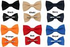 Choice of 1 New Clip On Cotton Bow Tie Men's Big & Tall Boys or Toddler Sizes